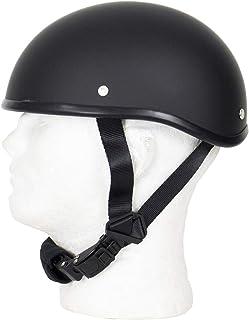 MONACO TRADERS SOA Beanie Novelty Flat Black Motorcycle Half Helmet Cruiser Biker S,M,L,XL,XXL (M, Flat Black)