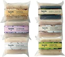 SpaLife Hand Made Soap Set - Handmade - 6 Pack - 3.5oz Each (Loofah)