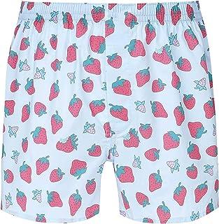 KKmeter Pajama Shorts for Men,Strawberry Print Boxers Sleepwear Underwear Lounge Beach Bottom