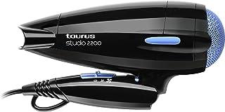 Taurus Studio 2200 - Secador de pelo, 2200 W, mango plegable, 2 velocidades y 3 temperaturas, color negro
