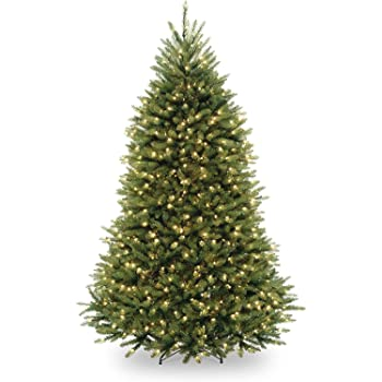 National Tree Company lit Artificial Christmas Tree Includes Pre-strung White Lights and Stand Dunhill Fir-6.5 ft, Green