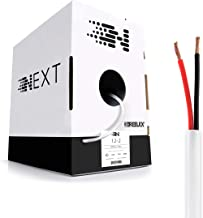 Next 12/2 Speaker Wire - 12 AWG/Gauge 2 Conductor - UL Listed In Wall (CL2/CL3) and Outdoor/In Ground (Direct Burial) Rated - Oxygen-Free Copper (OFC) - 500 Foot Bulk Cable Pull Box - White