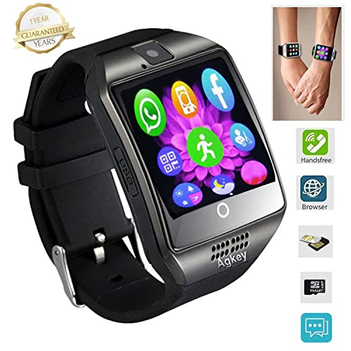 Agkey Smart Watch Touch Screen Smartwatch Wristwatch Unlocked Watch Cell Phone with Camera Smart Watches for