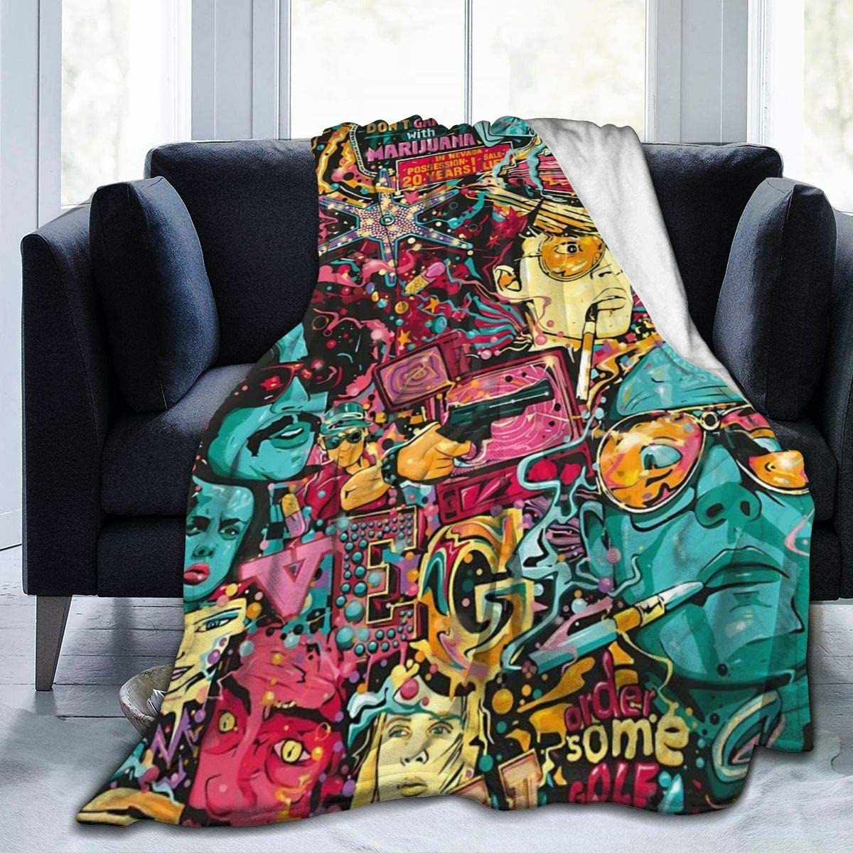 Fear and Loathing Las Superior Vegas Art Super Throwing Soft Blanket Micr Manufacturer regenerated product
