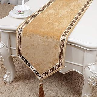 LIZHAIMING Chemin De Table en Tissu Corduroy pour Chemins De Table en Soirée De Mariage Banquet Linge De Table Ou De Décor...