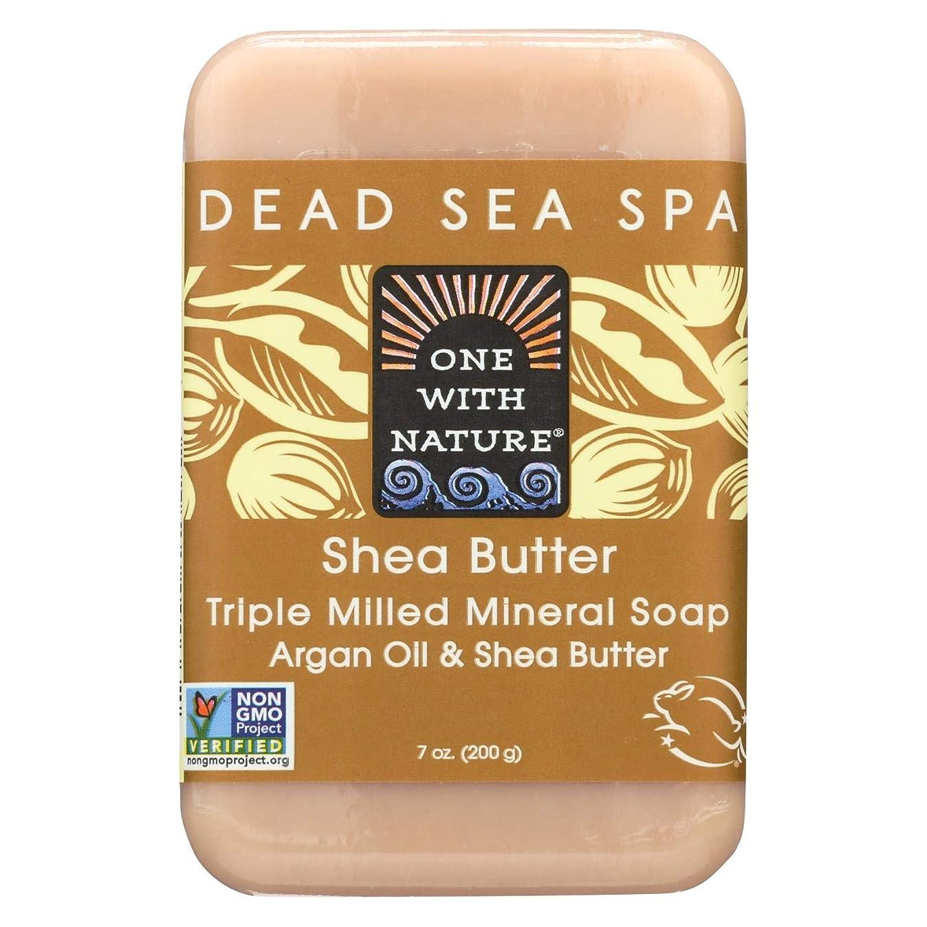日付肌寒い高潔なDead Sea Mineral Shea Butter Soap - 7 oz by One With Nature