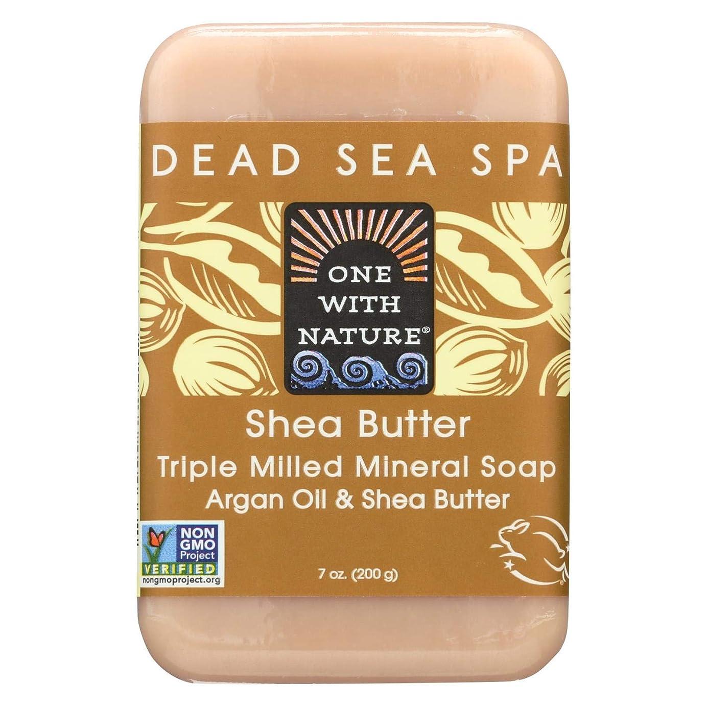 半径着る世論調査Dead Sea Mineral Shea Butter Soap - 7 oz by One With Nature