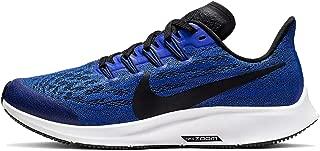 Nike Kids' Grade School Zoom Air Pegasus 36 Running Shoes (3.5, Racer Blue/White)