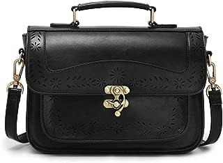 ECOSUSI Vintage Girl's Faux Leather Satchel Purse Small School Crossbody Messenger Bag Work Cross-body Bag