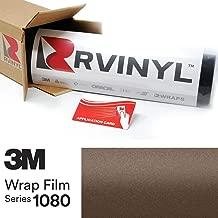 3M 1080 M209 Matte Brown Metallic 5ft x 1ft W/Application Card Vinyl Vehicle Car Wrap Film Sheet Roll