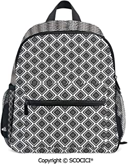 SCOCICI Kids School Book Bags Tribal Pattern Aztec Suitable for 3-8 Years Old