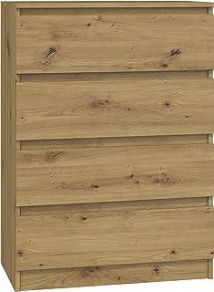 ADGO Malwa M4 Commode avec 4 tiroirs 40 x 70 x 97 cm, étagère pour vêtements, armoire classique avec étagères pour chambre...