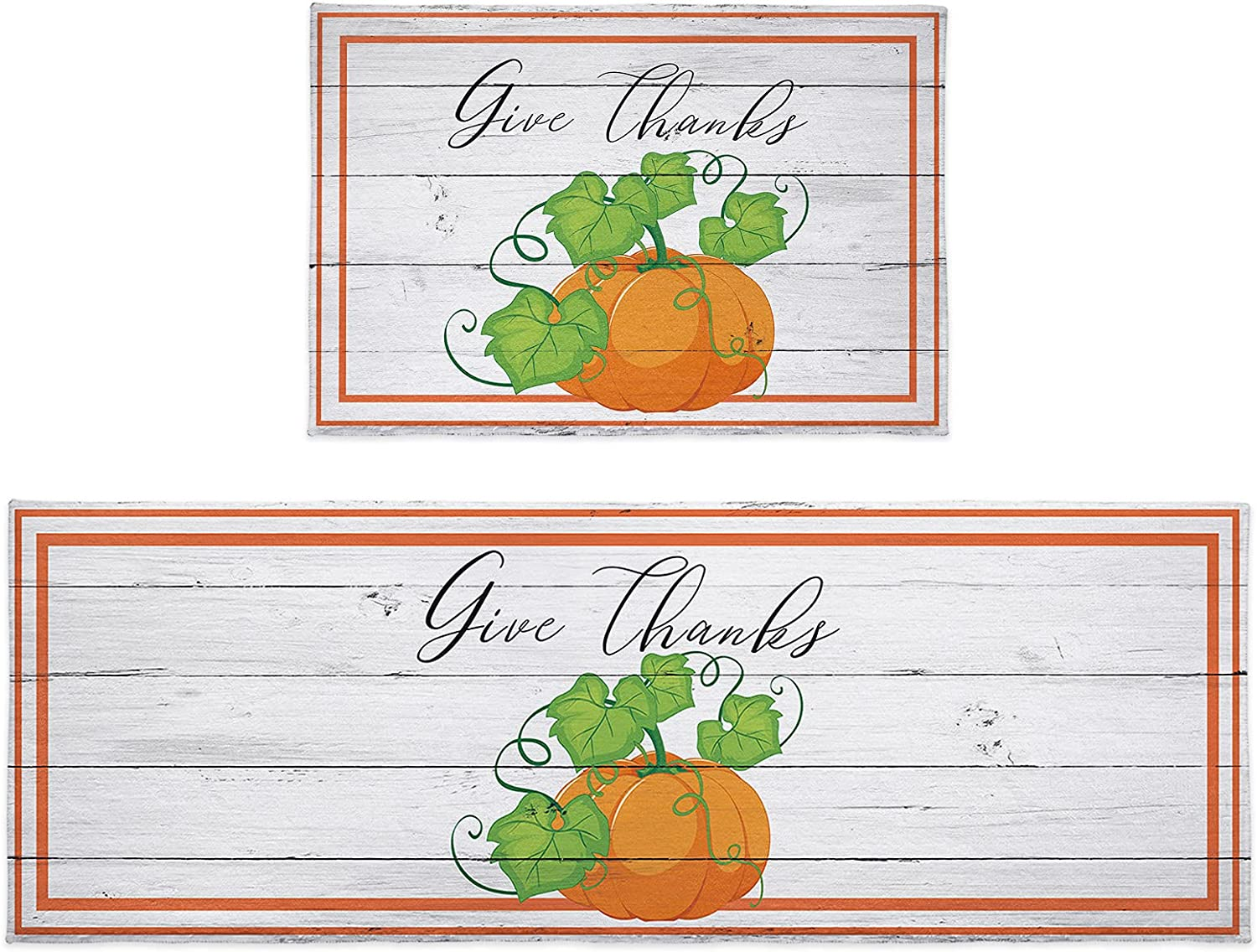 Cloud Dream Home specialty shop Kitchen Rug Sets Be super welcome Piece 2 Thanksgiving Pu Autumn