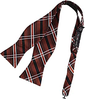 Dan Smith Men's Fashion Perfect Checkers Microfiber Self-tied Bow Tie With Free Gift Box