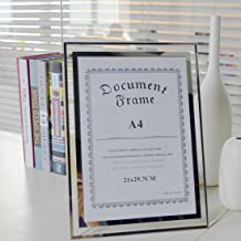 MAYMII Made to Display Certificates 8.5x11 Inch A4 Size Document Certificate Picture Standard Paper Glass Frame Frames