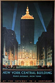 New York Central Building Vintage Travel Cool Wall Decor Art Print Poster 12x18
