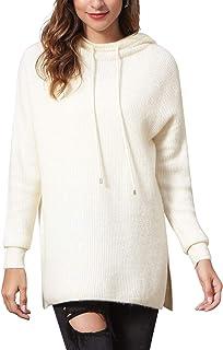 Woolicity Women's Hoodies Pullover Oversized Hoodie Long Sleeve Hooded Loose Lightweight Knit