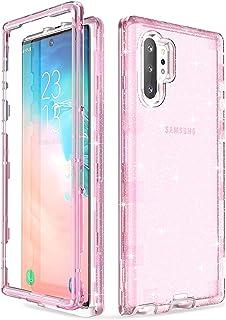 ULAK Fodral kompatibelt med Galaxy Note 10 Plus 5G, kraftig stötsäker hybrid transparent TPU stötfångare skyddande telefon...