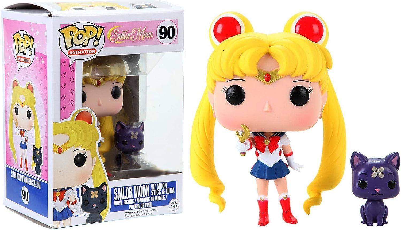 Sin impuestos Funko Figura de de de Vinilo Pop  FK6580 de Sailor Moon de 10 cm con cetro Lunar y Gata Luna  artículos de promoción