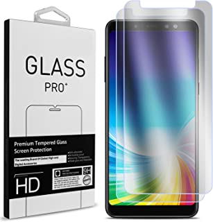 Galaxy A8 Plus Screen Protector, CoverON 2 Piece Premium Slim Fit Tempered Glass Screen Protectors for Samsung Galaxy A8 Plus 2018 - HD Clear