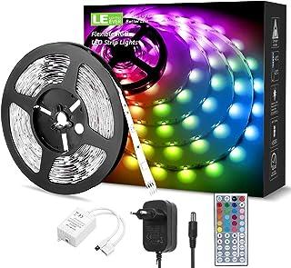 LE LED Strip 5M RGB Set, 5050 SMD 150 LEDs Streifen, 12V, Selbstklebend LED Strips, Flexibel LED Band, LED Leiste, LED Lic...