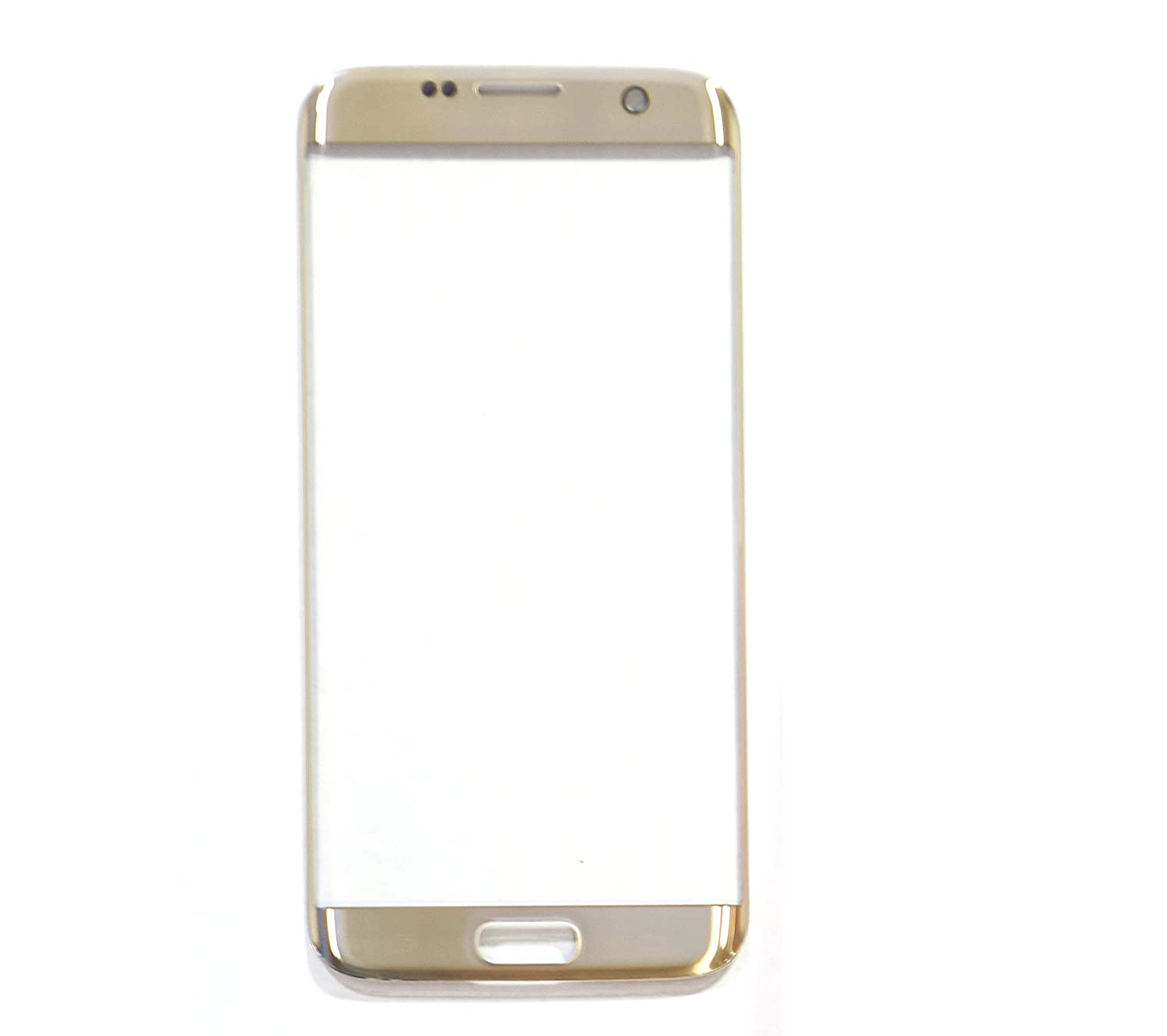 md0410) Gold Front Outer Glass Lens Replacement Compatible Galaxy S7 Edge (LCD Touch Screen and Digitizer not Included)