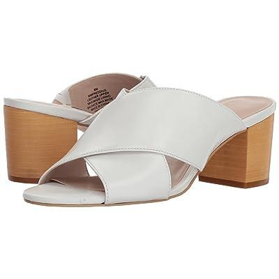 Nine West Freddius Slide Block Heeled Sandal (White Leather) Women