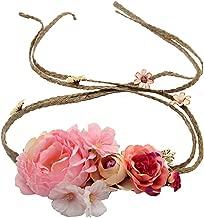 Bridal Bohemian Style Rose Flower Crown Headband Quality Wreath Women Hair Accessories Beach Garlands Headdress,23F