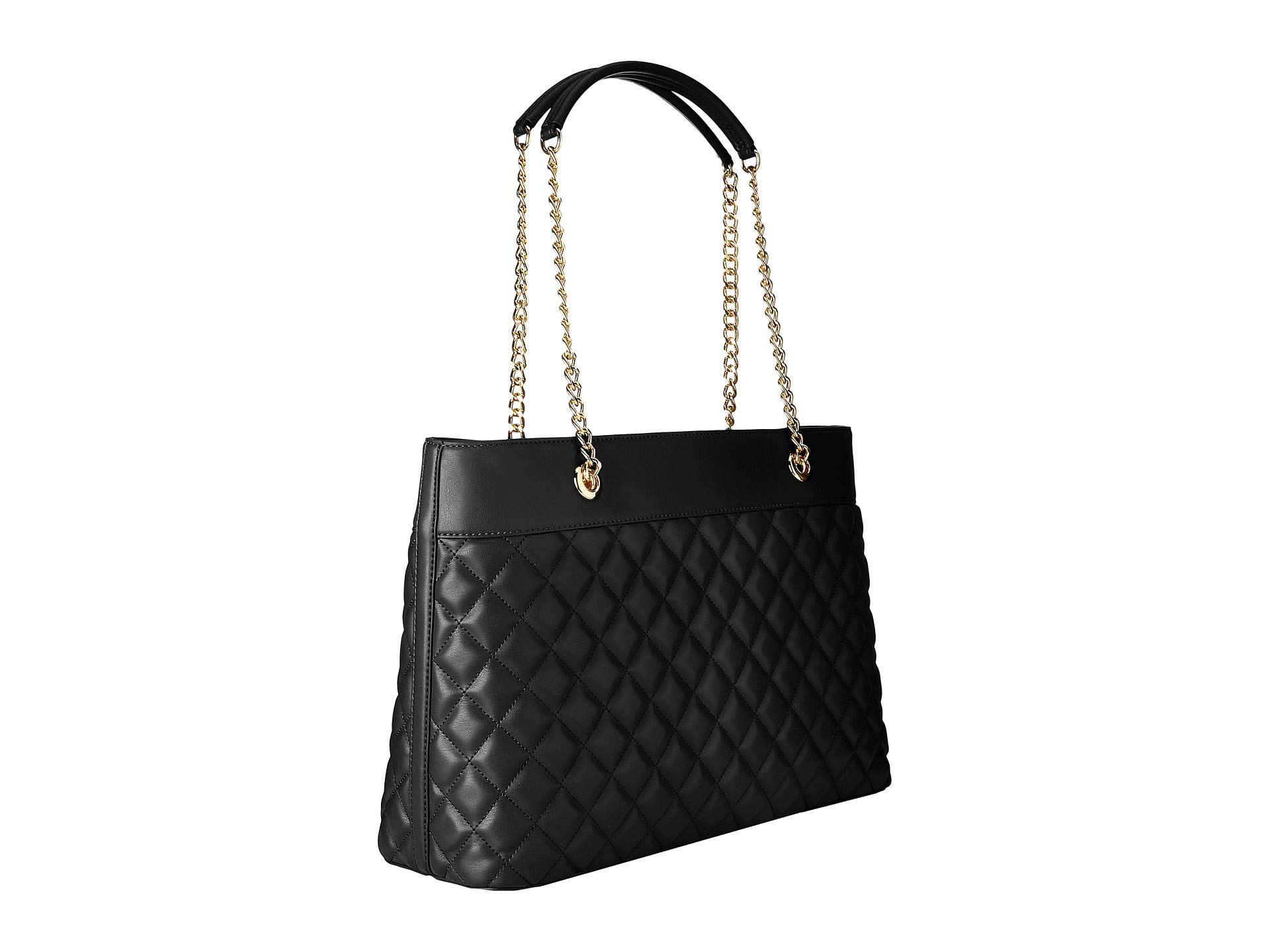 Love Quilted Metal Chain Moschino Black Super gold Strap Tote rZwrqEC
