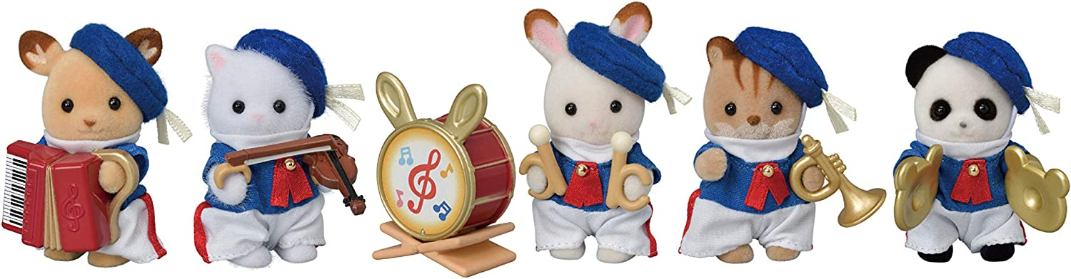 Oakland Mall Calico Critters Baby Celebration store Marching Dolls Band 35th Set