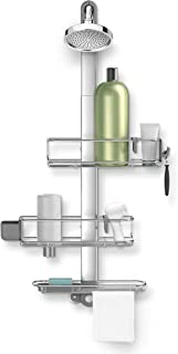 simplehuman Adjustable Shower Caddy Plus, Stainless Steel + Anodized Aluminum
