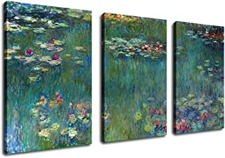 Canvas Wall Art Water Lilies by Claude Monet Painting Prints - 20