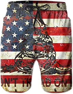 New Mexico And USA Flag Men's Quick Dry Swim Trunk Board Beach Shorts