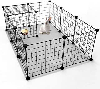 Mumoo Bear Pet Playpen, Small Animal Cage Indoor Portable Metal Wire Yard Fence for Small Animals, Guinea Pigs, Rabbits Ke...