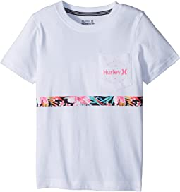 Hurley Kids - Overgrown Stripe Tee (Little Kids)