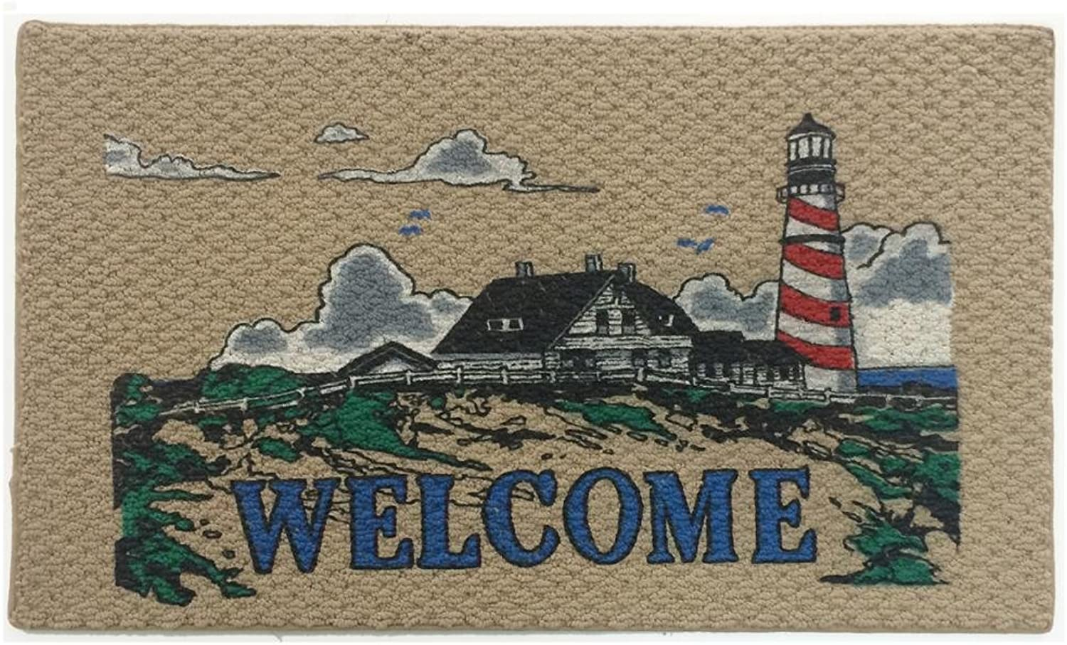 Home & More 151441827 Lighthouse Indoor Mat, 18  x 27 , Multicolor