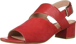 Taryn Rose Women's NOA Heeled Sandal, Sangria, 5 M M US