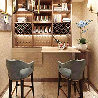 Need Small Folding Wall-Mounted Wood Table Small Floating Wall Table for Garage Kitchen Laundry Bathroom Balcony, L30 x W19.7 inches AC15-76x50-BB
