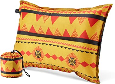 BAWASEEHI Camping Pillow Compressible Self Inflatable - with Memory Foam Ultralight Inflating Travel Pillow Portable for Hiki