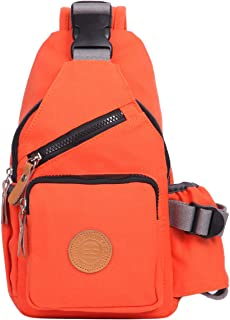 Eshow Women Chest Pack Shoulder Bag Sling Bag Morning Jogging Crossbody Bag for Outdoor Cycling Biking Casual