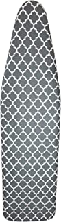 HOMZ Ulitimate Standard Width Ironing Board Cover and Pad, Grey/White Lattice