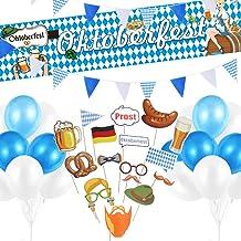 TUPARKA Oktoberfest Deko Set Oktoberfest Bayrische Dekoration 1x Banner 20m Wimpel Girlande 20 Luftballons