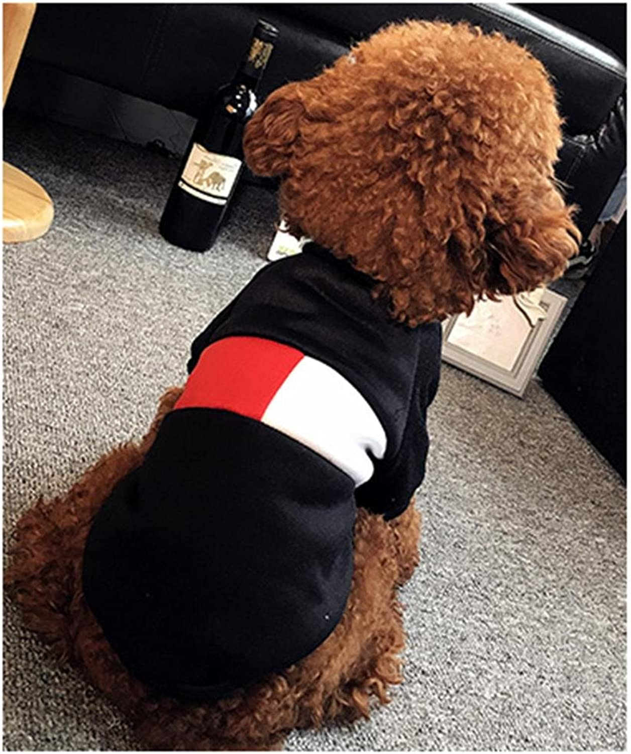 SASA Medium Poodle General pet Clothing Breathable Cotton Dog Clothes Exercise is not Dirty Princess Dog Clothes Simple, 001
