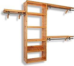 John Louis Home 12-Inch Deep Premier Closet Organizer-Honey Maple Finish