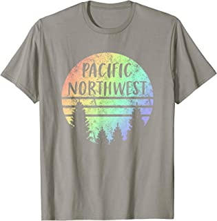 Pacific Northwest Rainbow T Shirt for Hiking Camping