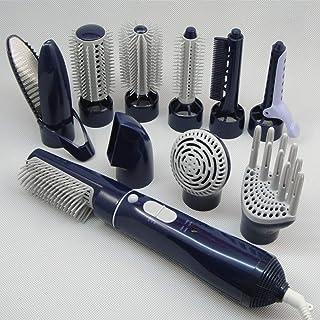 Cepillo Alisador, Cepillo Rotativo de Aire Plancha de Pelo Secador de pelo con Tecnología Iónica con Funcion Alisadora y Rizadora Peinado Multifuncional Herramienta con 10 accesorios