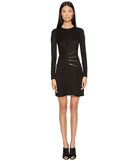 Versace Jeans Side Cinched Long Sleeve Dress
