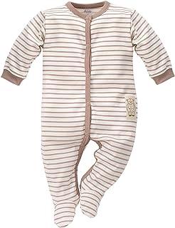 Pinokio FlikeFashion Teddy Bear Kinder Mädchen Jungen, Baby Strampler/Schlafanzug/Einteiler/Gesamt, Streifen, Größen: 50-74, 100% Baumwolle, Hergestellt in EU