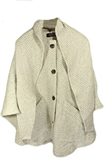Irish Cape Detachable Hooded Scarf Lambswool Cream Color Made in Ireland