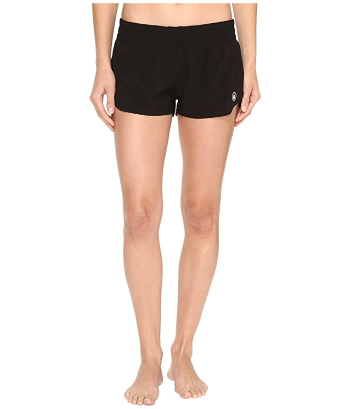 Volcom Simply Solid 2 Boardshorts (Black) Women